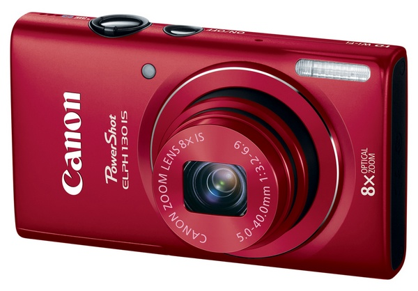 Canon PowerShot ELPH 130 IS Point-and Shoot packs 8x Zoom, WiFi and 3-inch Display red