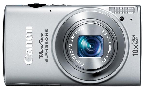 Canon PowerShot ELPH 330 HS Camera silver