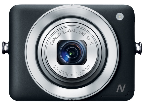 Canon PowerShot N Camera black front