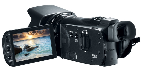 Canon VIXIA HF G20 Prosumer Full HD Camcorder lcd display
