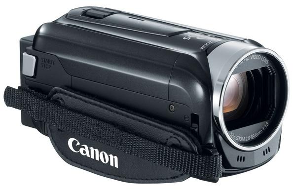 Canon VIXIA HF R42 WiFi Full HD Camcorder front angle