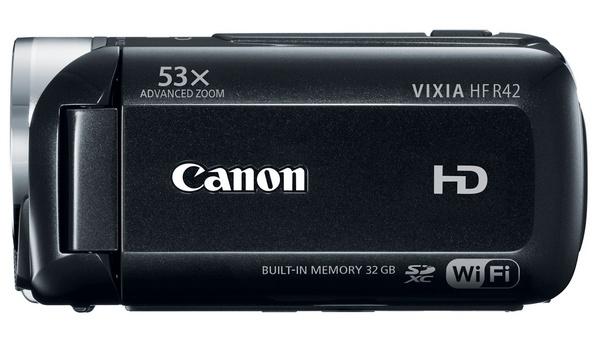 Canon VIXIA HF R42 WiFi Full HD Camcorder side