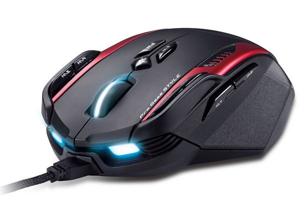 Genius Gila Professional Gaming Laser Mouse front angle