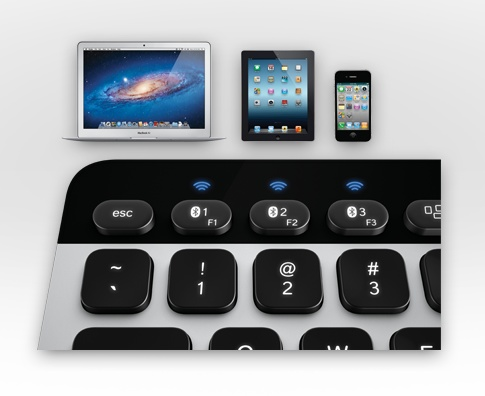 Logitech Bluetooth Easy-Switch Keyboard for Mac, iPad and iPhone switch button