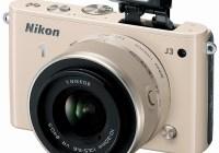 Nikon 1 J3 mirrorless camera biege