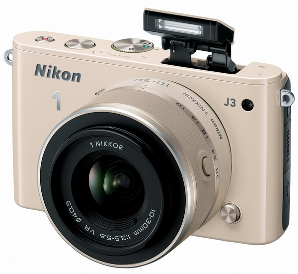 Nikon 1 J3 mirrorless camera biege