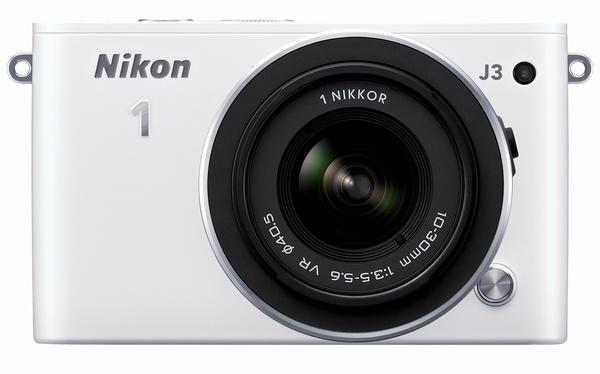 Nikon 1 J3 mirrorless camera white front