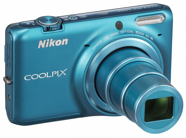 Nikon CoolPix S6500 Compact Camera with 12x Optical Zoom and WiFi blue