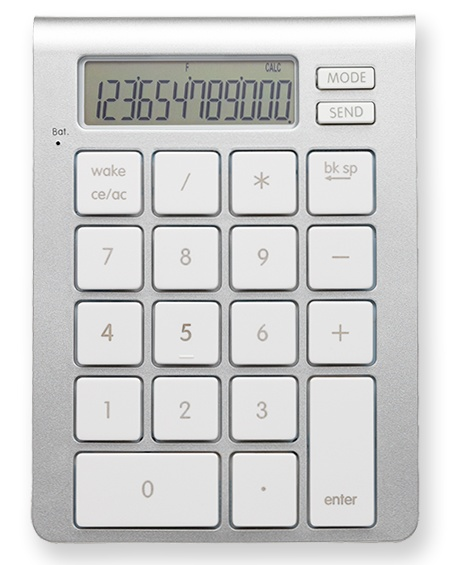 SMK-Link iCalc Bluetooth Calculator Keypad top