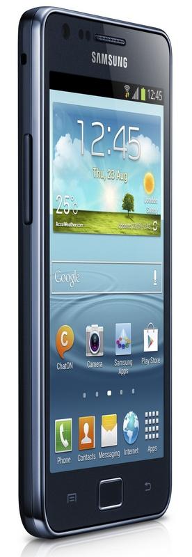 Samsung Galaxy S II Plus runs Android 4.1.2 Jelly Bean Black