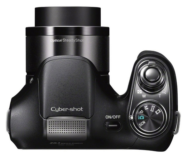 Sony Cyber-shot DSC-H200 Camera with 26x Optical Zoom top