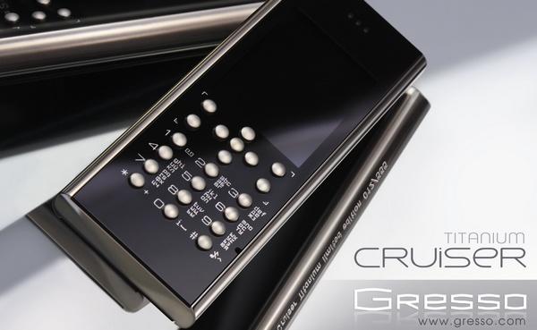 Gresso Crusier Titanium Luxury Phone 1