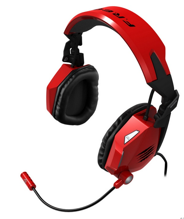 Mad Catz F.R.E.Q. 7 7.1 Surround Sound Gaming Headset red