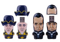 Mimico MIMOBOT x US Presidents Flash Drives feature Washington and Lincoln