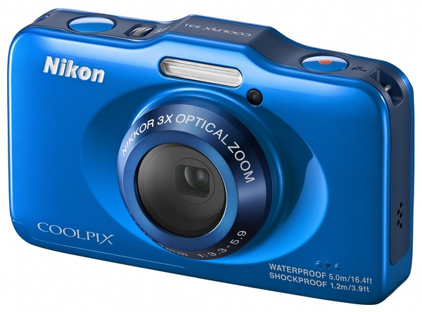 Nikon Coolpix S31 budget-friendly rugged digital camera blue