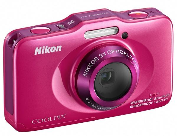 Nikon Coolpix S31 budget-friendly rugged digital camera pink