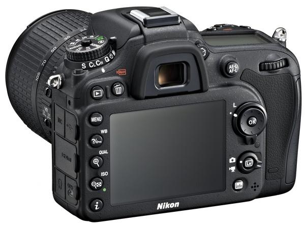 Nikon D7100 DX-Format DSLR back angle
