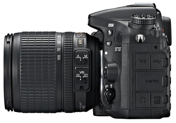 Nikon D7100 DX-Format DSLR side