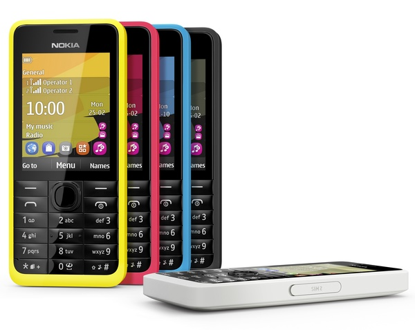 Nokia 301 Dual-SIM feature phone