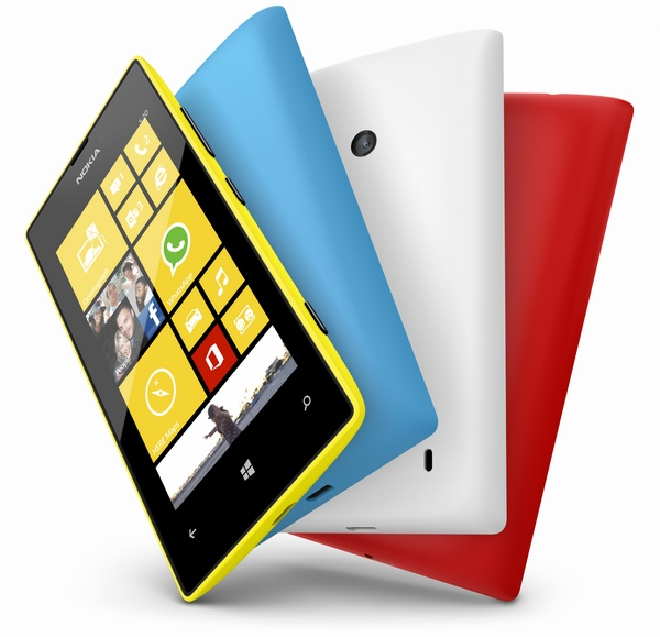 Nokia Lumia 520 is an Affordable WP8 Smartphone colors
