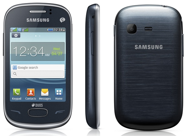 Samsung REX 70 (GT-S3802) smart feature phone blue
