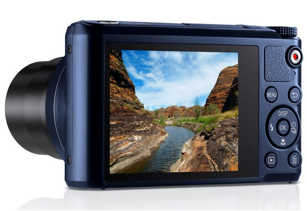 Samsung WB250F Smart Camera with WiFi and Touchscreen back