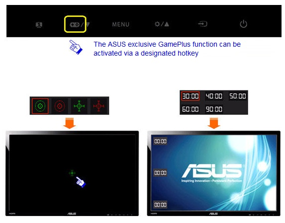 Asus VG248QE Full HD Gaming Display with 144Hz Refresh Rate GamePlus