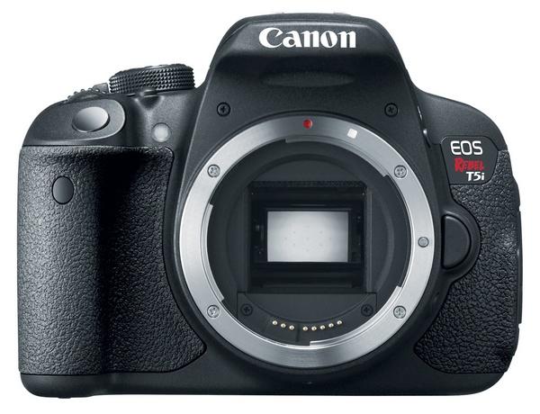 Canon EOS Rebel T5i DSLR Camera front no lens