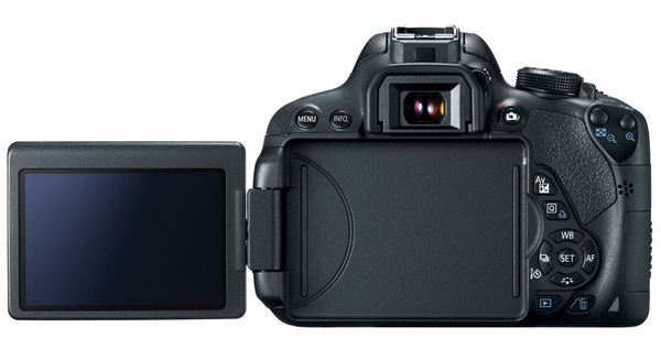 Canon EOS Rebel T5i DSLR Camera lcd back