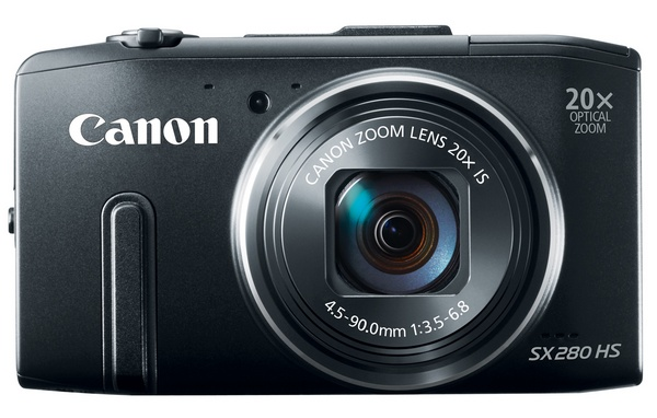 Canon PowerShot SX280 HS with 20x Optical Zoom, WiFi and GPS black