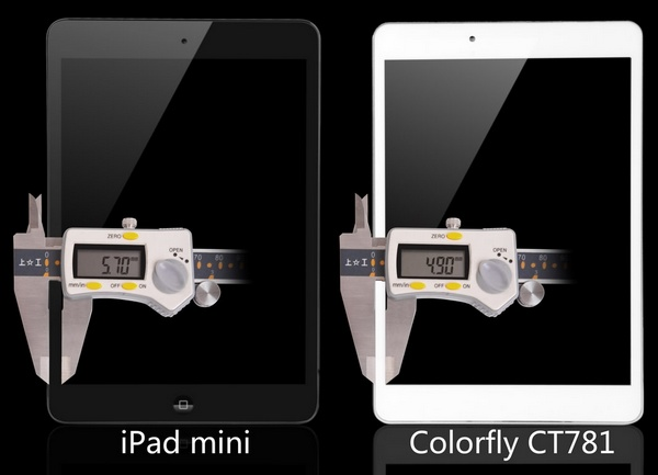 Colorfly CT781 iPad mini Clone is even Thinner bezel