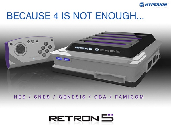 Hyperkin RetroN 5 lets you play NES, SNES, GENESIS, GameBoy and FAMICOM games