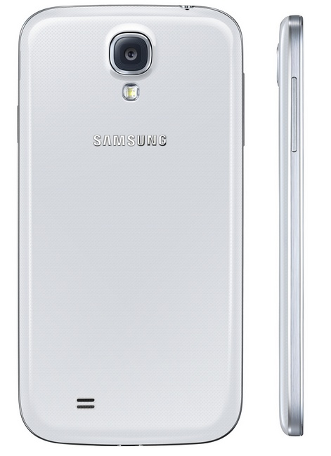 Samsung Galaxy S4 8-core Android smartphone white back