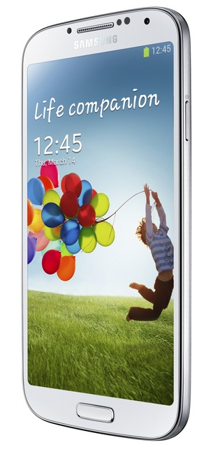 Samsung Galaxy S4 8-core Android smartphone white