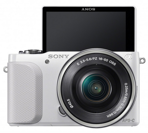 Sony Alpha NEX-3N Mirrorless Camera front screen