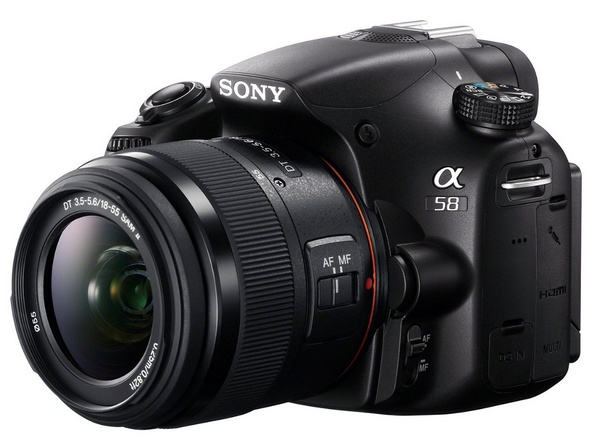 Sony Alpha a58 DSLR Camera for Beginners side