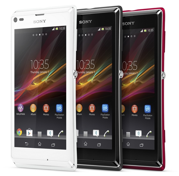 Sony Xperia L Stylish Entry-level Android Smartphone colors
