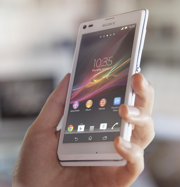 Sony Xperia L Stylish Entry-level Android Smartphone on hand