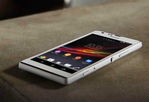 Sony Xperia SP Mid-range Smartphone in use