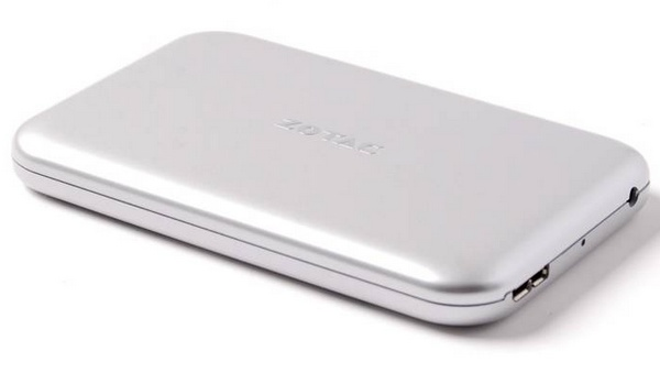 Zotac RAIDbox USB 3.0 mSATA SSD Enclosure angle