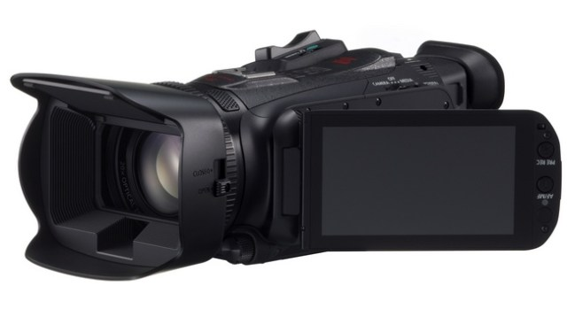 Canon XA25 and XA20 Ultra-Compact Professional Camcorders lcd