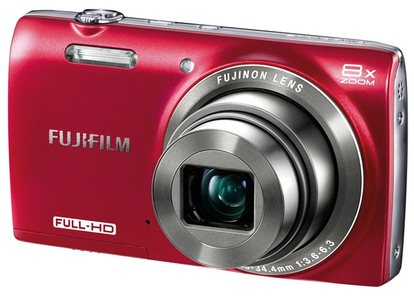 FujiFilm FinePix JZ700 8x Zoom Digital Camera red