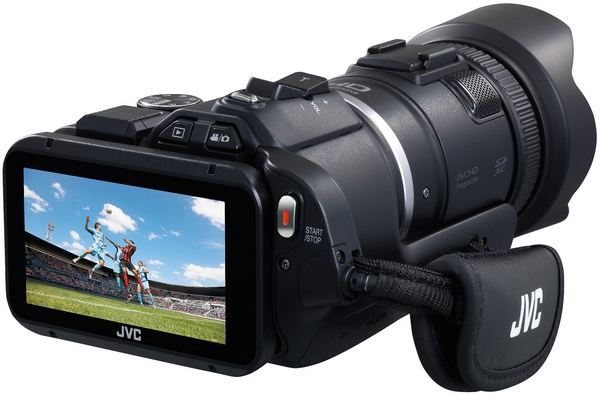JVC Procison GC-PX100 Camcorder captures Fast-moving Actions angle back