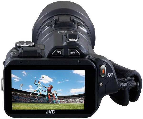 JVC Procison GC-PX100 Camcorder captures Fast-moving Actions back