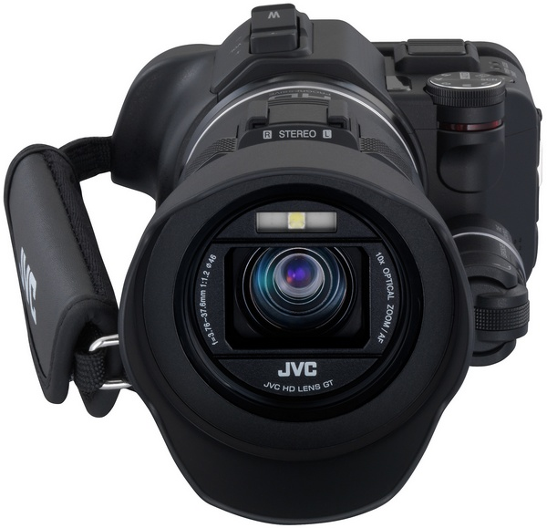JVC Procison GC-PX100 Camcorder captures Fast-moving Actions front