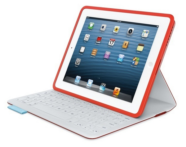 Logitech FabricSkin Keyboard Folio for iPad white red
