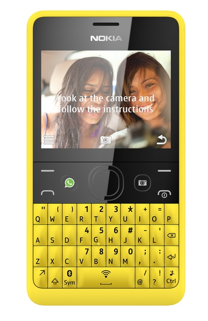 Nokia Asha 210 QWERTY Phone with WhatsApp Button self portrait