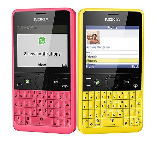 Nokia Asha 210 QWERTY Phone with WhatsApp Button social
