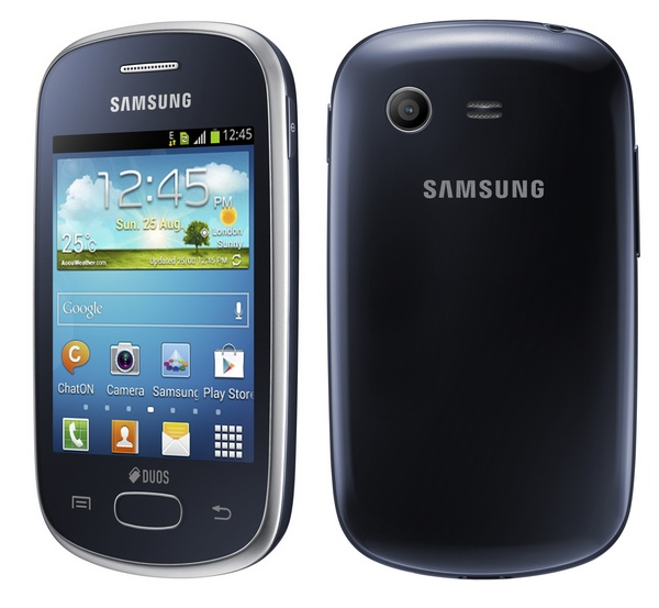Samsung Galaxy Star Dual SIM Android phone blue