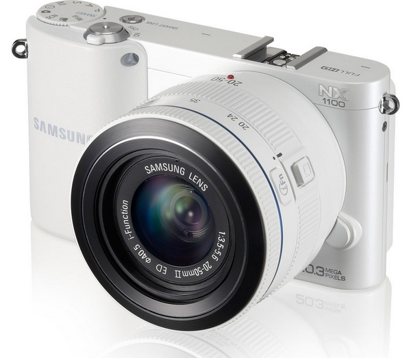 Samsung NX1100 Mirrorless Smart Camera white front